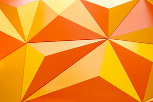 Abstract geometrical background with orange triangles