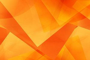Abstract Geometry Orange