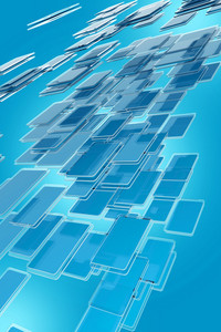 Abstract Glassy Blocks
