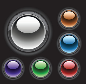 Abstract Glossy Buttons