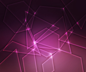 Abstract Glowing Shapes Pink Background