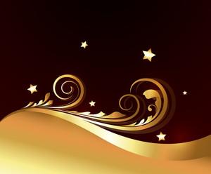 Abstract Golden Flourish