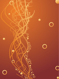 Abstract Golden Wavy Background