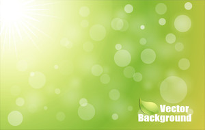 Abstract Green Bokeh Vector Background