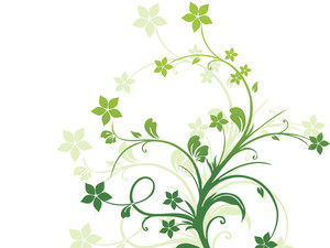 Abstract Green Floral Design Illustration
