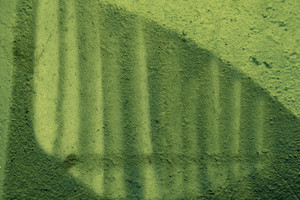 Abstract green grunge concrete wall background