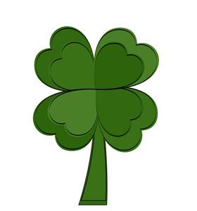 Abstract Green Shamrock Icon