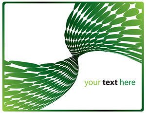Abstract Green Waves With Room To Add Your Text