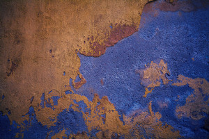 Abstract grunge background. Wall with peeling plaster