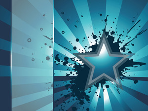 Abstract Grunge Background With Star