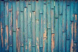 Abstract grunge blue bamboo background