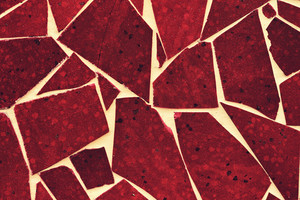 Abstract grunge brown broken tiles background