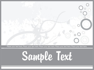 Abstract Grunge Floral Background With Place For The Text