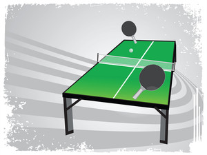 Abstract Grunge Frame With Table Tennis