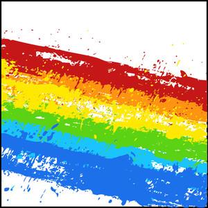 Abstract Grunge Rainbow Splash Background