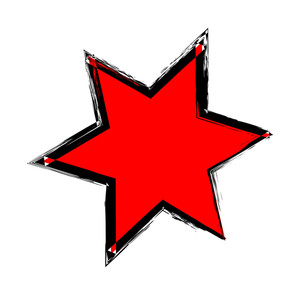 Abstract Grunge Star Shape