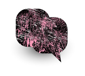 Abstract Grunge Texture Comic Speech Bubble Design