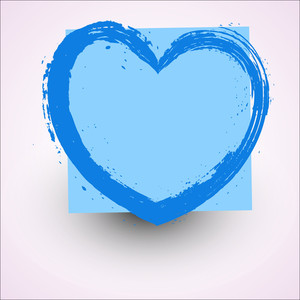 Abstract Grunge Texture Heart Frame