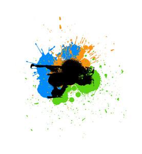 Abstract Grunge Texture Splashes