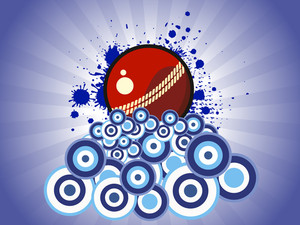 Abstract Grungy Background With Cricket Ball