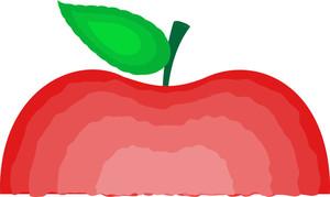 Abstract Half Apple