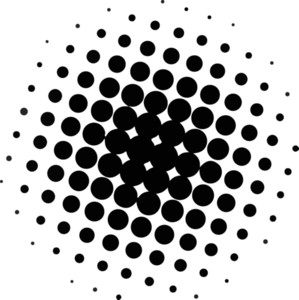 Abstract Halftone Circle