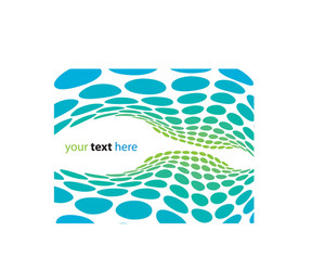 Abstract Halftone Wave With Room To Add Your Text