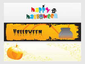 Abstract Halloween Banner Series Set18