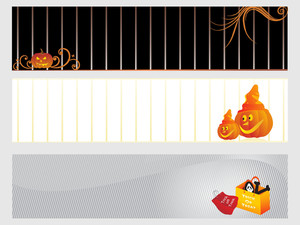 Abstract Halloween Banner Series Set1