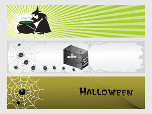 Abstract Halloween Banner Series Set28