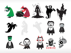 Abstract Halloween Icon Series Set4