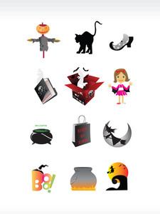 Abstract Halloween Icon Series Set8