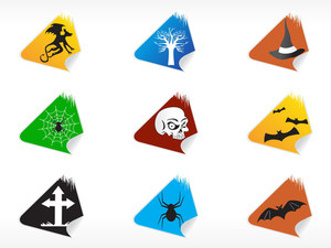 Abstract Halloween Sticker Series Set1
