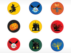 Abstract Halloween Sticker Series Set21
