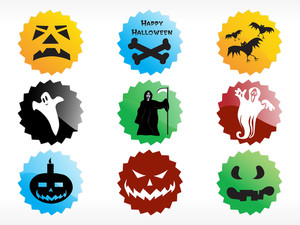 Abstract Halloween Sticker Series Set2