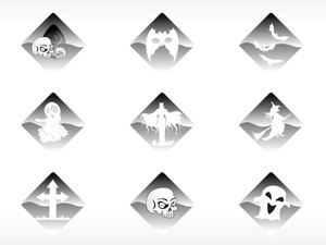 Abstract Halloween Sticker Series Set30