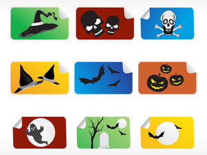 Abstract Halloween Sticker Series Set4