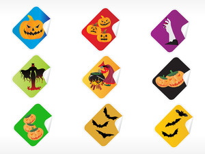 Abstract Halloween Sticker Series Set6