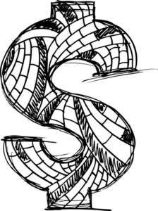 Abstract Hand Drawn Dollar Symbol