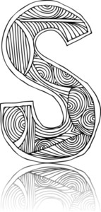Abstract Hand Drawn Letter. Vector Illustration