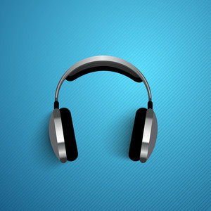 Abstract Headphone Background