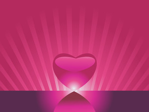 Abstract Heart And Its Mirror Effect