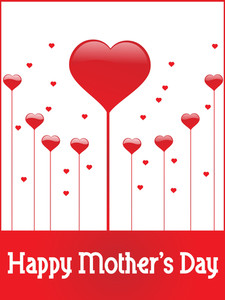 Abstract Heart Pattern Mother Day Card