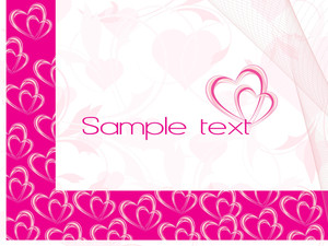 Abstract-heart Shape Banner Text