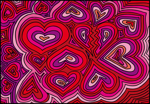 Abstract Hearts Background. Vector Illustration