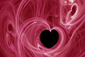 Abstract Heartshaped Fractal Design