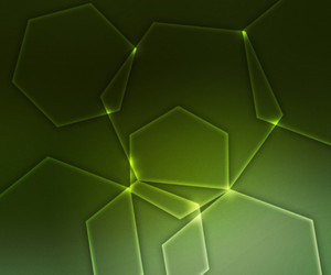 Abstract Hex Green Shapes Background