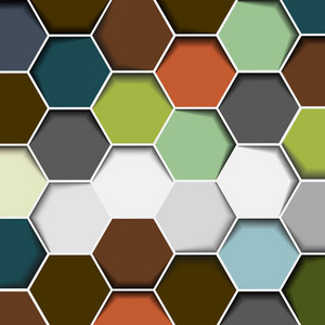 Abstract Hexagon Background 123