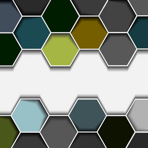 Abstract Hexagon Border