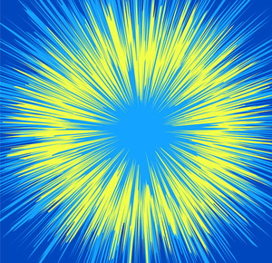 Abstract Holiday Sunburst Background